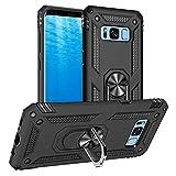 Yiakeng Funda Samsung Galaxy S8 New Edition Carcasa con Protector, Silicona Armor Case con Kickstand para Samsung Galaxy S8 (Negro)