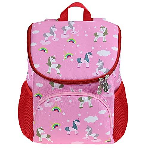 Japoece Kinderrucksack Leichter Cartoon Mode Junge Mädchen Kindergartenrucksack Kindergartentasche 2-5 Jährige Vorschulrucksack Kindertasche mit Brustgurt Schultasche (Pink - Einhorn)
