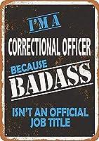 矯正官 金属板ブリキ看板警告サイン注意サイン表示パネル情報サイン金属安全サイン