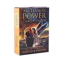 Archangel Power EGuideブック付きの完全英語版のタロットデッキEinstructionカードゲーム占いゲームは運命予測カードゲームを設定します
