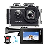 AKASO Brave 6 Action Camera, Voice Control 4K 20MP WiFi EIS 30m Underwater