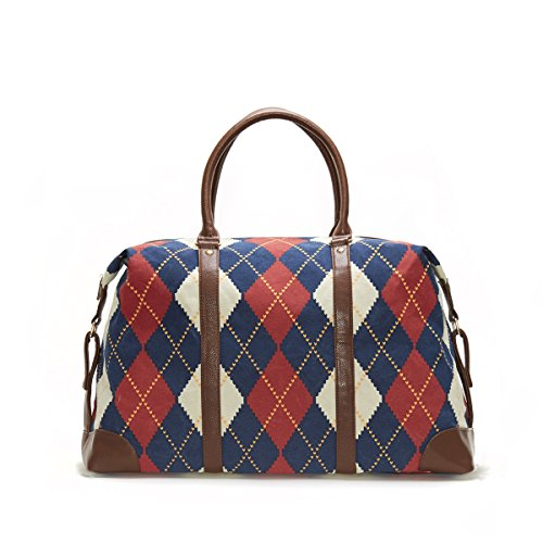 Royal Heritage Print Argyle Duffle Fashion Bag