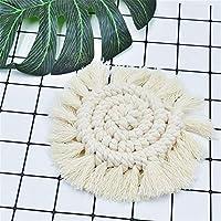 Thunder ドリンクコースター手織りの家の装飾カフェクッションプレースマットボウル茶コースター絶縁パッド茶道テーブルマット (Color : B)