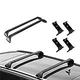 NORDRIVE Barras portaequipajes para Audi A6 Avant (C7) Desde 09/2011 Equipadas con Cerradura antirrobo – portaequipajes Snap Steel de Acero Negro