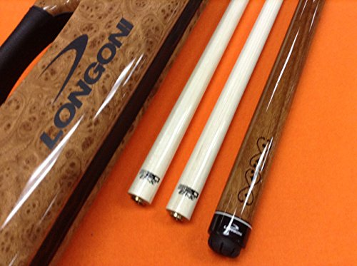 Best Deals! Longoni Carom CUE Madeira with S20 SHAFTS & Patented CASE