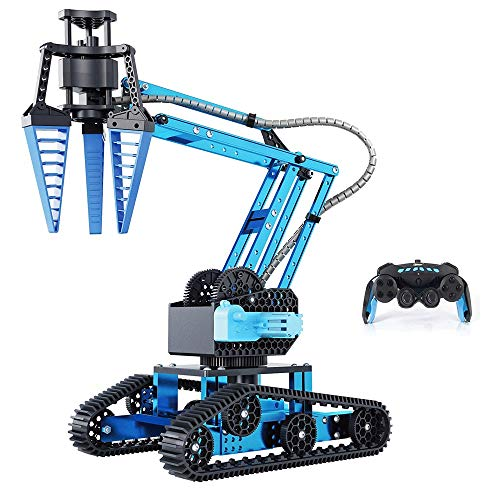 Zeyujie Ciencia y educación DIY Assamble Control Remoto Aleación de automóviles Mecánica Mech Tank Robot Modelo Modelo de Aleación de Aleación, Controle el uso de brazos giratorios independientes para