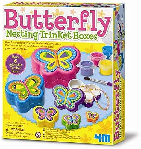 clásico atemporal 4M Butterfly Nesting Nesting Nesting Trinket Paint Box by 4M  n ° 1 en línea