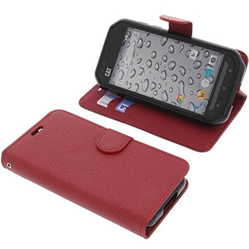 foto-kontor Tasche für CAT S30 Book Style rot Schutz Hülle Buch