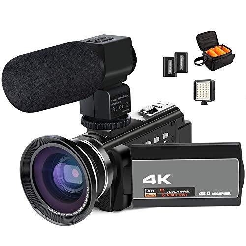 Videocamera 4K, ACTITOP 48MP full hd 1080p wifi IR Night Vision...