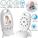 Baby Monitor Wireless Camera+ Talk-Back Two-Way Audio+Night Vision Temp Sensor+ Built-in 8 Lulla