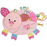 TOYMYTOY Juguetes para dormir del bebé Los juguetes del edredón con los delantales ambientales pueden morder para el bebé recién nacido Niños del muchacho Niños (cerdito)