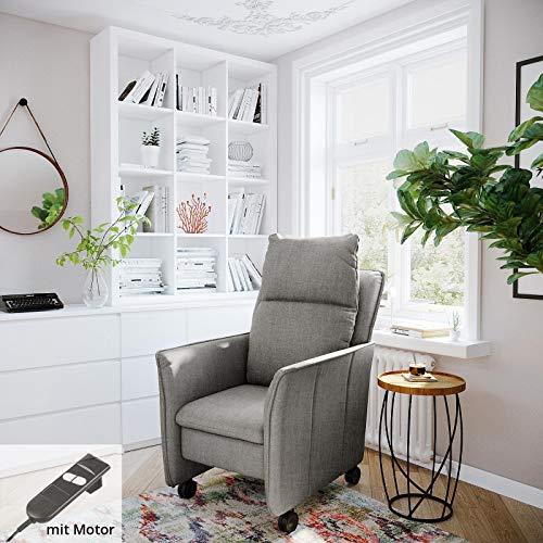 place to be. P9502 - Sillón de relax (tamaño XXL, con función reclinable y función de dormir sobre ruedas suaves), color gris