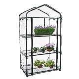 Rubeyul Invernadero de jardín de PVC, para animales cálidos, miniplanta, cubierta transparente para el hogar, invernadero para terraza, invernadero de cultivo, ahorra espacio, sin marco de hierro