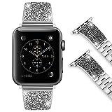 Foxroar Kompatibel fr Apple Watch Armband 38mm 40mm, Party King/Queen Luxurise Mode Edelstahl iWatch...