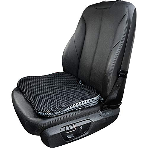 Dreamer Car Seat Cushion for Short People to Broaden Driving Vision- Never Get Harden Memory Foam Seat Cushion for Car Front Seat -Wedge Shape Seat Cushion for Office Chair to Promote Sitting (Black)
