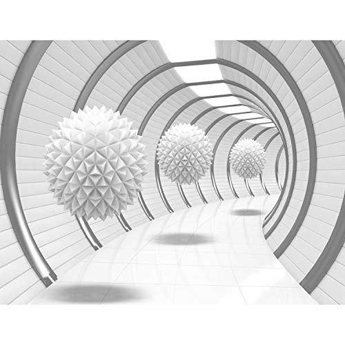 Fototapete 3D - Weiß 396 x 280 cm Vlies Wand Tapete Wohnzimmer Schlafzimmer Büro Flur Dekoration Wandbilder XXL Moderne Wanddeko - 100% MADE IN GERMANY - Runa Tapeten 9175012a