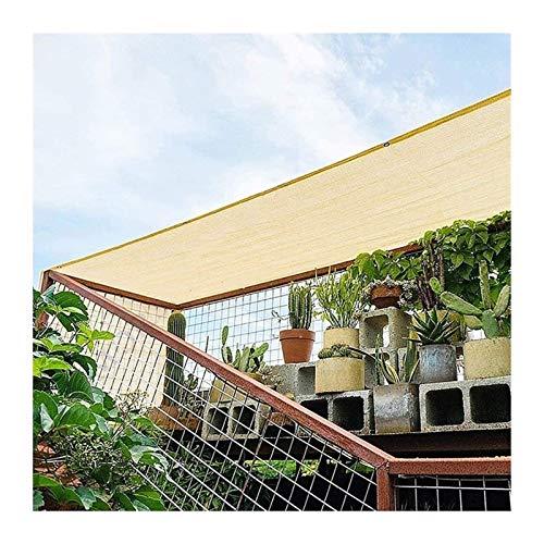 WDQJGD Sonnenschutz Netz schattierungsnetz Startseite Pergola Beschattung Sonnenschutz Terrassendach, Beige Rechteck HDPE durchlässiges Tuch mit Tüllen, 90% Sunblock & UV-beständig (Size : 5x6m)