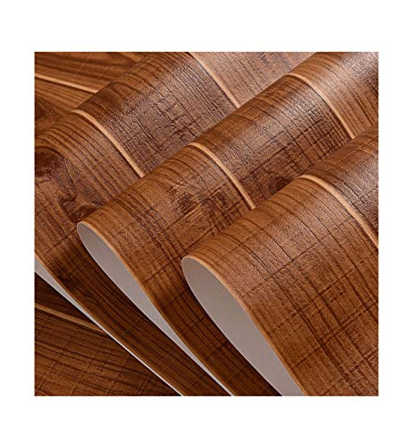 Multi-Wallpaper houten korrels klassiek gesimuleerd houten strepen behang restaurant koffie huis thee bruin geel