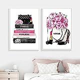 None brand Modemagazin Wandkunst Druckt High Heels Und