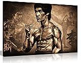 Bruce Lee Martial Arts Kunstdruck auf Leinwand, 30,5 x 20,3