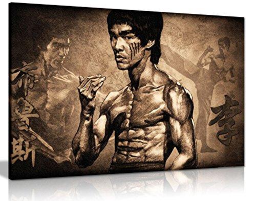 Bruce Lee Martial Arts Kunstdruck auf Leinwand, 30 x 20 cm