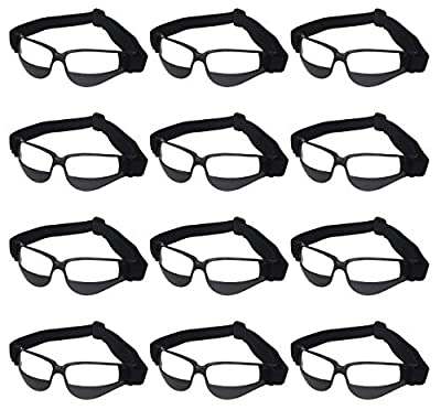 Liberty Imports Pack of 12 Basketball Dribbling Glasses No Look Eye Goggles Dribble Specs Team Training Aid Sports Equipment