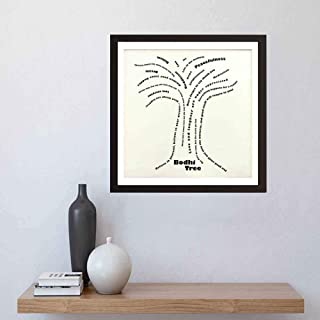 i-zehibho-i Wall Art - Buddha Bodhi Tree - Artwork Decor for Home,Office,School and Cafe - Art Print 8x8in with Frame