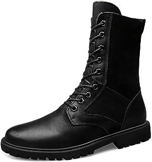 CAIFENG Bottes mi-veaux for Hommes Occasionnels Nouveau Style extérieur étanche à la Coupe étanche des Bottes de l'armée (...