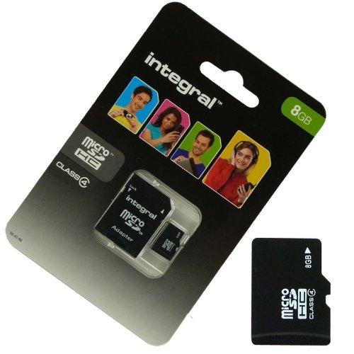 Acce2S-Scheda Memory 8GB per Crosscall Trekker M1Micro SD HC + Adapt SD Integral