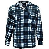Camisas de trabajo acolchadas de forro polar grueso acolchado para hombre, camisa de cuadros de leñador de piel superior abrigos chaqueta M-XXL