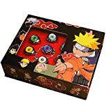 Akatsuki ring Narutoo Rings Set New in Box Itachi ring Cosplay Member's Ring anime rings Set contacts for Cosplay Narutoo Fans 11 pcs