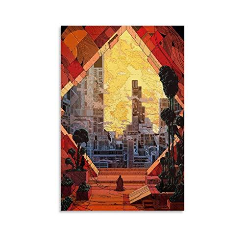 WYYXWX Moebius Umweltkunst-Poster, Leinwand-Kunst-Poster und Wandkunstdruck, modernes Familienschlafzimmerdekor, 30 x 45 cm