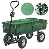 <span class='highlight'><span class='highlight'>WEIBO</span></span> Garden Trolley With Removable Sides and Lining, 300kg Capacity, Green