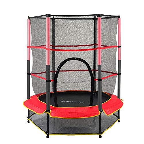 WUPYI2018 Trampolín con red de seguridad, trampolín de jardín para niños, fitness, 50 kg, para niños