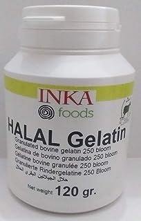 Gelatina granulado HALAL, 250 bloom, sabor neutro - 120 gr