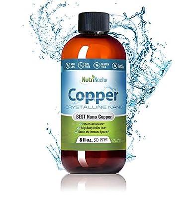 NutriNoche - Liquid Copper Supplement - Nano Copper - Crystalline Purity - High Bioavailability - Colloidal Minerals
