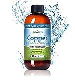 NutriNoche - Liquid Copper Supplement - Nano Copper - Crystalline Purity - High Bioavailability - Colloidal Minerals (8 oz)