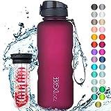"""720°DGREE Trinkflasche """"uberBottle"""" softTouch +Früchtebehälter - 1,5L - BPA-Frei -..."""