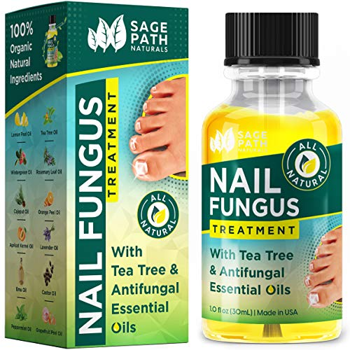 Toenail Fungus Treatment: Natural Tea Tree & Essential Oil Antifungal - Organic, Extra Strength Healing for Fungal Toe Nails - Made in USA