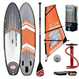 JBAY.Zone Tabla de Stand Up Paddle Surf Sup Hinchable Modelo Wind Comet WJ2 10'6'' Cm 320x81x15 + Vela de Windsurf JSAIL Windsurfing Sup Board Crossover Series