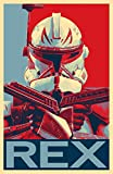 Star Wars Captain Rex Illustration - Clone Wars Sci-fi Cartoon Film Pop Art Movie Home Decor Poster Print (11x17 inches)