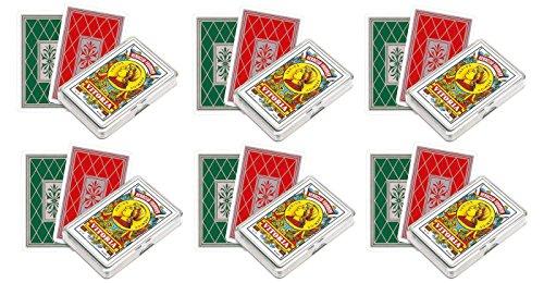 Outletdelocio. Pack de 6 Baraja española Fournier. 40 cartas. En estuche de plástico
