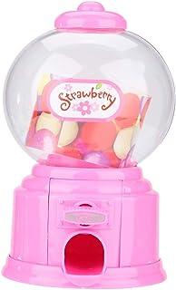 Fdit Machine À Bonbons Portable Enfants en Plastique Mini Gumballs Distributeur Enfants Cadeau De Jardin d'enfants(Rose)