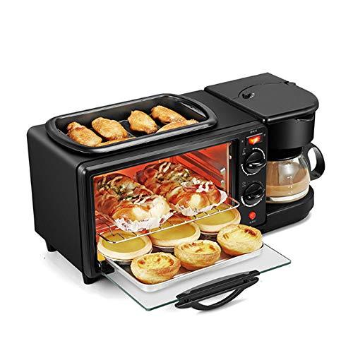 LZC Horno de Pan Tres en uno, versátil, Compacto y fácil de Limpiar. Máquina de Hacer Pan con Control de Temporizador Ajustable para cocinas pequeñas, Apartamentos y dormitorios.