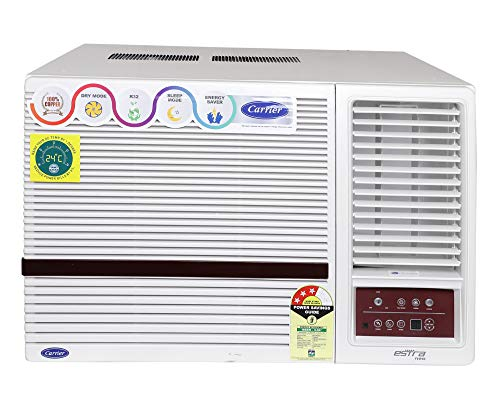 Carrier 1.5 Ton 3 Star Window AC (Copper, PM 2.5 Filter, 2019 Model, CAW18SN3R39F0 White)