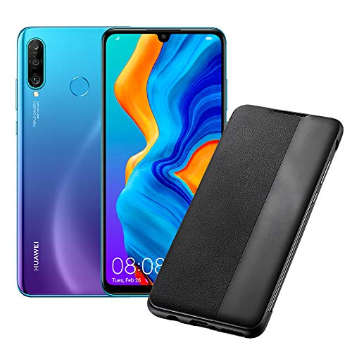 "Huawei P30 Lite (Blue) Smartphone + transparent cover, 4GB RAM, 128 GB memory, 6.15 Display ""FHD +, Triple rear camera from 48 + 8 + 2 MP, front camera 24 MP [Italian version]"