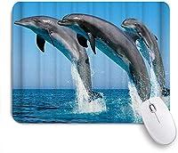 ZOMOY マウスパッド 個性的 おしゃれ 柔軟 かわいい ゴム製裏面 ゲーミングマウスパッド PC ノートパソコン オフィス用 デスクマット 滑り止め 耐久性が良い おもしろいパターン (ブルーシーワールドコーラルドルフィンエレファント)