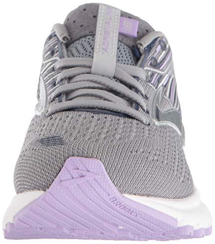 Brooks Womens Adrenaline GTS 19 Running Shoe - Grey/Lavender/Navy - B - 9.5 3