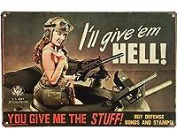美レトロ金属装飾鉄塗装特殊部隊女性兵士セクシー金属ビンテージアートデコ