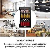 Klarstein Beersafe Onyx - Getränkekühlschrank, 5 Kühlstufen, 42 dB, flexible Metallböden, LED-Licht, Kühlschrank für Flaschen, Glastür mit schwarzem Rahmen, 80 L, F, Onyx - 7